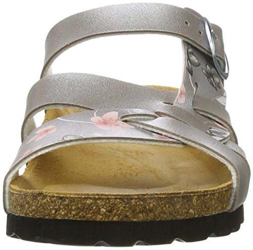 Silber rosa Lico Flora Bas Chaussons Femme taupe Bioline Cgw4q7