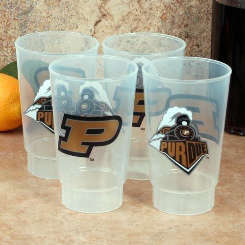 (NCAA Purdue Boilermakers 4-Pack 16oz. Plastic Cups)