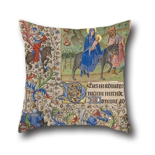 Throw Pillow Covers Of Oil Painting Spitz Master (French, Active About 1415 - 1425) - The Flight Into Egypt,for Adults,club,lover,kids Boys,boys,dinning Room 16 X 16 Inches / 40 By 40 (Master Chief Costume Uk)