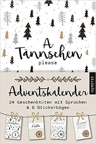 Sprüche Für Weihnachtskalender.Mynotes A Tännschen Please Adventskalender Amazon De Bã Cher