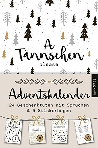 myNOTES A Tännschen please: Adventskalender Kalender – 25. September 2018 arsEdition B07C5HMXVT Non-Classifiable Weihnachten