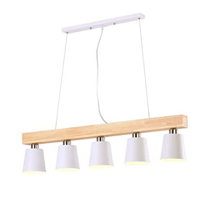 PIAOLING Lámparas modernas de madera maciza nórdicas ...