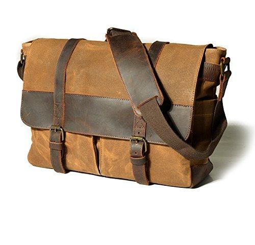 Schoolbags Laptop Frazill Shoulder Cross Mu1693 Multifunction Body Camera Khaki Messenger Boys Bag Men's qIzpB