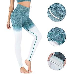 Wetopqueen Yoga Pant, High Waist Tummy Control Seamless Sport Legging for Women