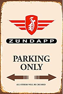 Blechschild 30 x 20 cm Warning Simson Parking Only