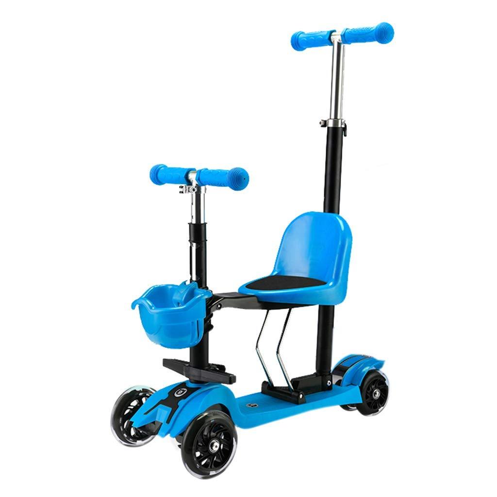 ahorre 60% de descuento TOOSDScooter Scooter para niños 3 Ruedas con Asiento - - - Altura Plegable Ajustable - con Luces Intermitentes LED Regalo de cumpleaños para niños 1 año de Edad, niño y niña, Soporte 40 Kg,C  centro comercial de moda