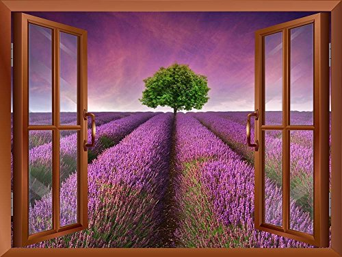 Tree on a Purple Filed Removable Wall Sticker Wall Mural