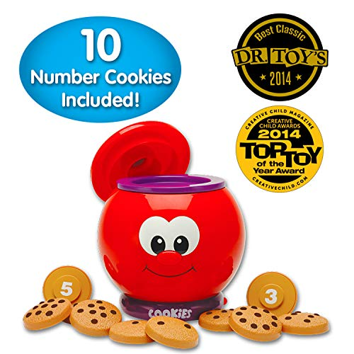 The Learning Journey Learn With Me - Count & Learn Cookie Jar - Counting and Numbers STEM Teaching Toddler Toys & Gifts for Boys & Girls Ages 2 Years and Up - Award Winning Preschool Learning Toy