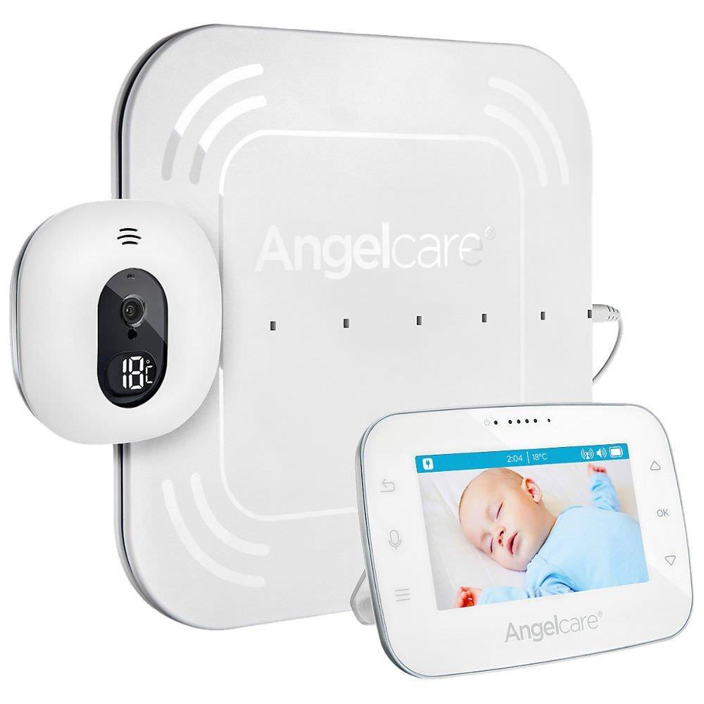 'Angel Care a0315-DE0A1001Babyphone avec Vidéo et d/4.3écran/tapis Détecteur de mouvement Surveillance ac315filaire Blanc A0315-DE0-A1001