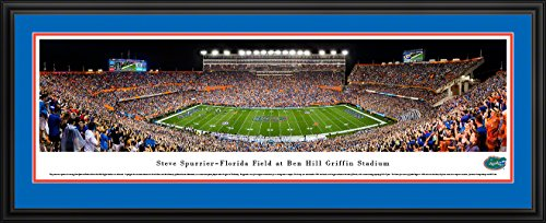 Florida Gators Football - 50 Yard - Blakeway Panoramas College Sports Posters with Deluxe Frame