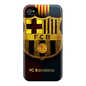 THzWEMl8986twrHC Tpu Phone Case With Fashionable Look For Iphone 4/4s - Fc Barcelona