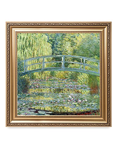DECORARTS - Water Lilies 1916-1919, Claude Monet Art Reproduction. Giclee Print& Museum Quality Framed Art for Wall Decor. Framed Size: 30x30 ()