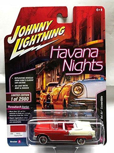 Johnny Lightning 1:64 Havana Nights - 1955 Chevrolet Bel Air Convertible Die Cast Vehicle