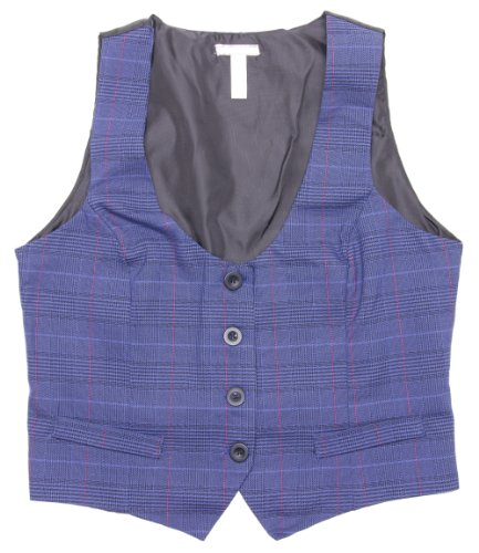 womens-blue-plaid-button-up-vest-top-medium