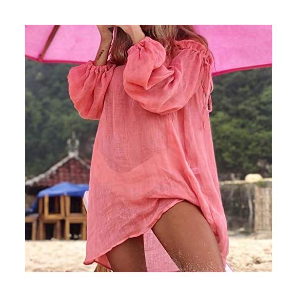Copricostume Donna Pareo Elegante Costumi Bikini Cover Up Mare Abito Spiaggia Vestito Bagno Estivi Kimono Fotografia… 4 spesavip