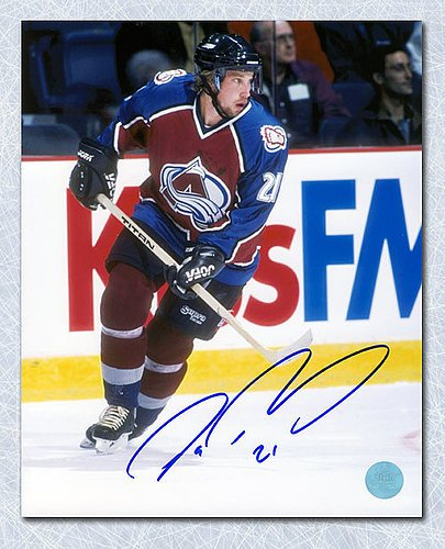 Peter Forsberg Colorado Avalanche Autographed Action 8x10 Photo - Signed Hockey Pictures