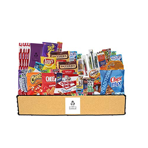 (Everyday Care Package (50 Count + 1 Bonus Snack) Snack Box - An Assortment of Chips, Crackers, Candy, Cookies, Bars for Military, Students, Office, and More!)