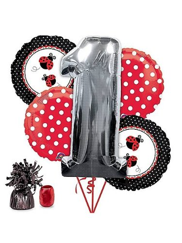 Costume Supercenter BB102181 Ladybug 1st Birthday Balloon Kit -