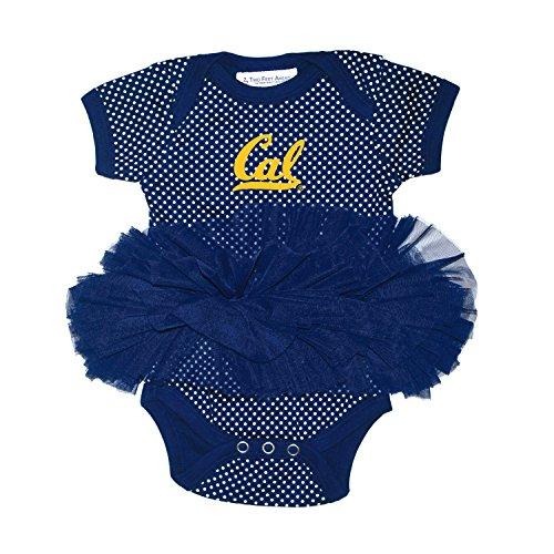 - Two Feet Ahead NCAA California Golden Bears Children Girls Pin Dot Tutu Creeper,Nb,Navy
