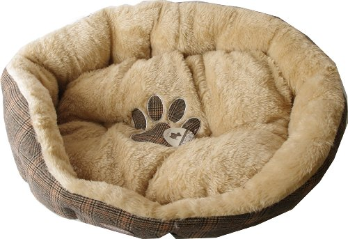 Pet Brands Tweedy Luxus-Hundebett GrößeL 75x65x24 cm