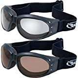 Global Vision (2 Goggles) Motorcycle ATV Riding Clear Mirror and Driving Mirror Glasses Sunglasses