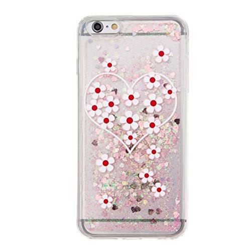 Für Apple iPhone 6 Plus (5,5 Zoll) Hülle ZeWoo® TPU Schutzhülle Silikon Tasche Case Cover - GS139 / Liebe Chrysanthemum