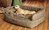 Orvis Comfortfill Couch Dog Bed / Large Dogs 60-90 Lbs., Brown Tweed, Review