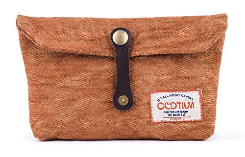 Gootium Envelope Clutch - Handmade Pouch Small Purse Makeup Hand Bag Accessory Organizer Tools Holder, Ginger