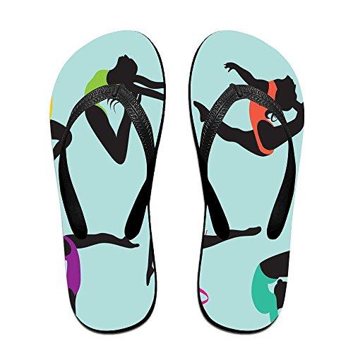 Unisex Turnster Zomer Band Slippers Strand Slippers Platforms Sandaal Voor Heren Dames Zwart