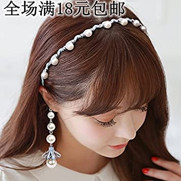 Amazon Com Simple Korean Female Hair Band Hair Hoop Earrings Fake