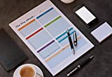 LillieKay Daily Weekly Planners Tear Off To Do Pad, 8.5x11-inch | Menu Food Tracker | Goal Tracker | Shopping List
