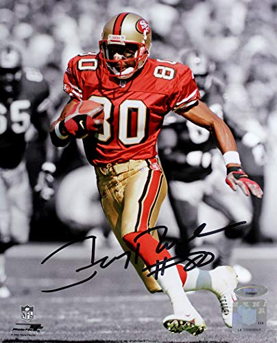 Jerry Rice Autographed 8x10 Photo - Jerry Rice Signed Autographed San Francisco 49ers Spotlight 8x10 Photo TRISTAR COA