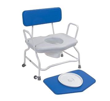 NRS Healthcare - Silla con ruedas para ducha Extra ancho y con altura fija: Amazon.es: Salud y cuidado personal