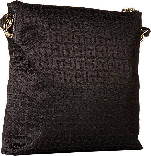 Tommy Hilfiger Womens Shannon Crossbody Black Tonal One Size: Handbags: Amazon.com