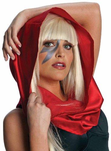 Morris Costumes Women's Lady Gaga Headscarf, Black