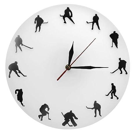 QUTICL 1 Pieza Entrenamiento Reloj Deporte Reloj de Pared Lacrosse Moderno Reloj de Pared Decoración Reloj