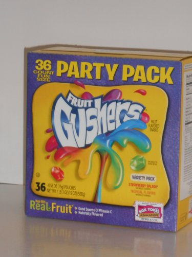 FRUIT GUSHERS Variety Party Pack (36 Pouches)