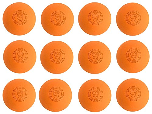 Signature Lacrosse Ball Set - Massage Balls, Myofascial Release Tools, Back Roller, Muscle Knot Remover, Firm Rubber -Scientifically Designed for Durability - 2 Orange Lacrosse Balls