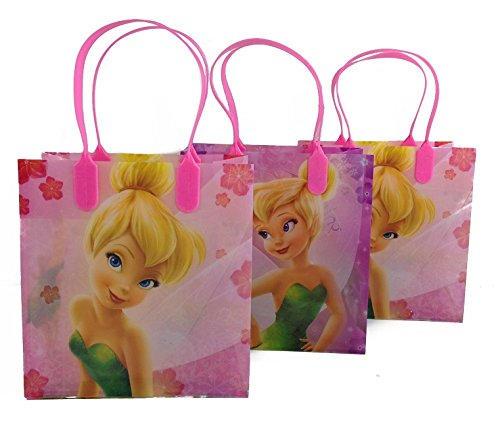 (12ct) Disney Nickelodeon Marvel Birthday Goody Gift Loot Favor Bags Party Supplies (Tinkerbell) (Tinkerbell Goody Bag)