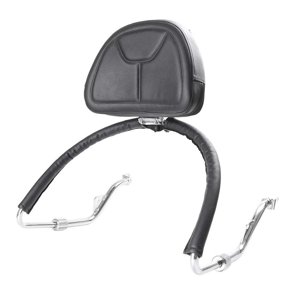 PU Leather GZYF Motorcycle Adjustable Diver Backrest for Honda Goldwing GL1800 2001-2017 Black