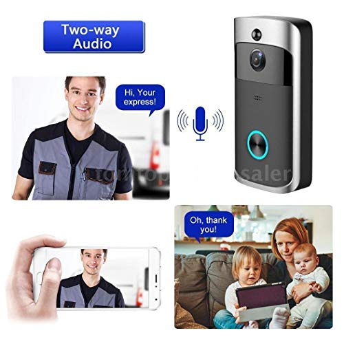 lantusi Durable Practical 166° Wide-Angle Wireless Phone Remote Doorbell Kits by lantusi (Image #4)