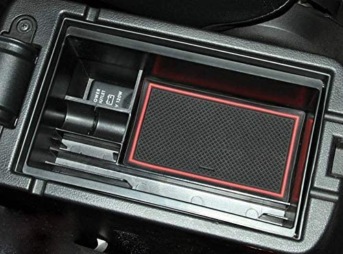 Salusy Car Center Console Organizer Insert Tray Storage Box for Mitsubishi Outlander 2014 2015 2016 2017 2018