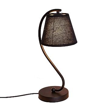 Lámpara de mesa de noche con soporte de arte curvo - Lámpara ...