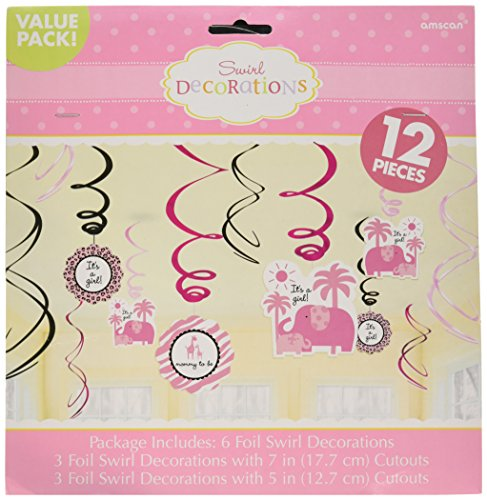- Sweet Safari Girl-Swirl Value Pack Decorations