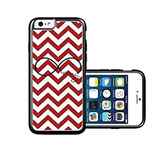 RCGrafix Brand forever young red Chevron Black iPhone 6 Case - Fits NEW Apple iPhone 6