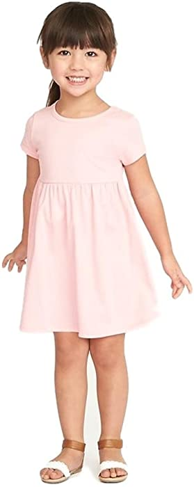 d4f44d020d311 Holidays Sale Jersey Fit & Flare Dress for Toddler Girls! Back. Double-tap  to zoom