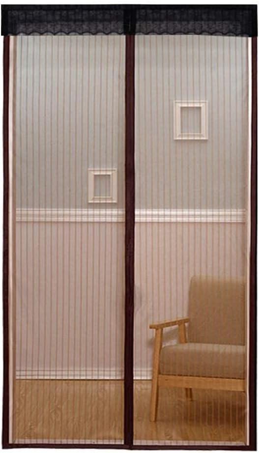 Rideau Antimoustique Fermeture Automatique Magn/étique 90 x 210cm, Marron Portes Patio Ultra-r/ésitant Aorula Moustiquaire Aimant/ée en Fibre de Verre Maille ultra fine pour Couloirs