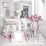 Creative Scents Vanda Vanity Tray for Bathroom/ Perfume/ Dresser, Decorative Cosmetics Organizer- Durable Resin- Best Trays for Arranging Perfume/ Jewelry/ Makeup (White)