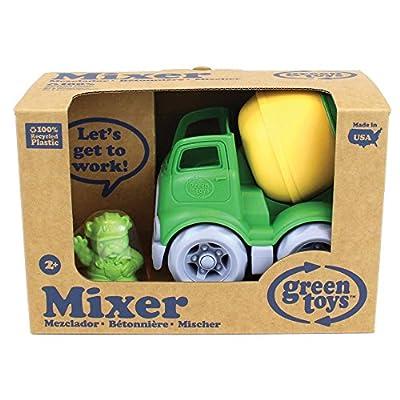 Green Toys Mixer Construction Truck: Toys & Games