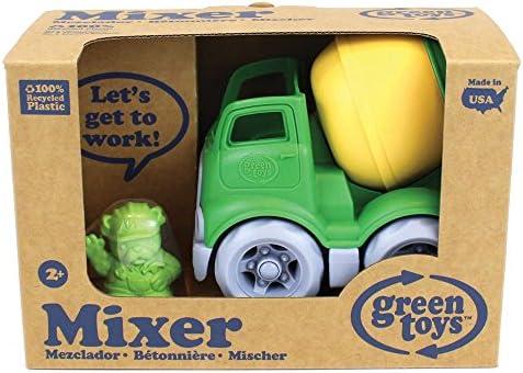 Green Toys Camion Mélangeur avec Tambour tournant et Figure